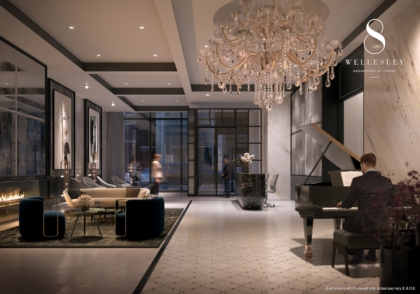 8 Wellesley - Lobby, Furnished With Fendi
